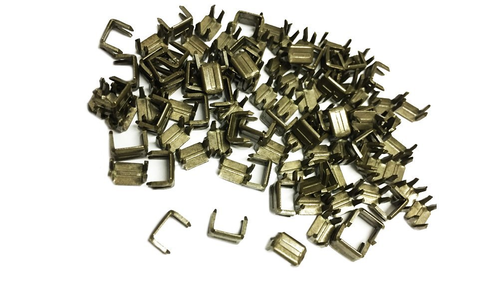ZipperStop Wholesale - Zipper Repair Kit Solution -100 Pcs of Antique Metal Bottom Stoppers for Spiral Slider Bottom Rescue Repair Fit Antique Brass Zipper #3 and #4.5 by ZipperStop Wholesale - Zipper Repair Kit Solution 4337007151