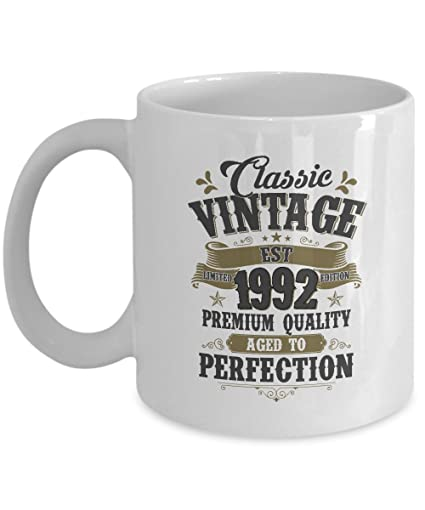 Personalized 25th Birthday Gift For Best Friend Classic Vintage Est 1992