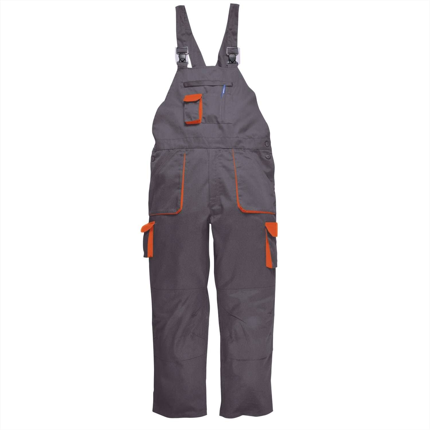 Portwest Texo Contrast Bib and Brace Men Workwear Painters Coverall Overall TX12