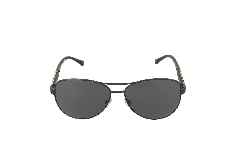 47c9926aab4d Amazon.com  Burberry Unisex 0BE3080 Black Grey  Burberry  Clothing
