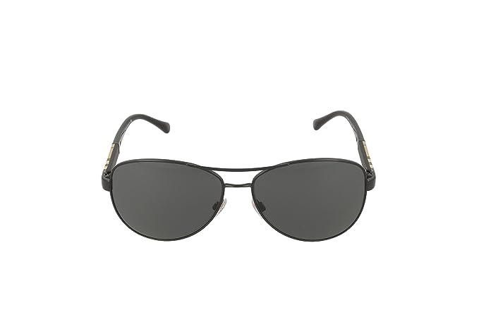 164a377dc6 Amazon.com  Burberry Unisex 0BE3080 Black Grey  Burberry  Clothing