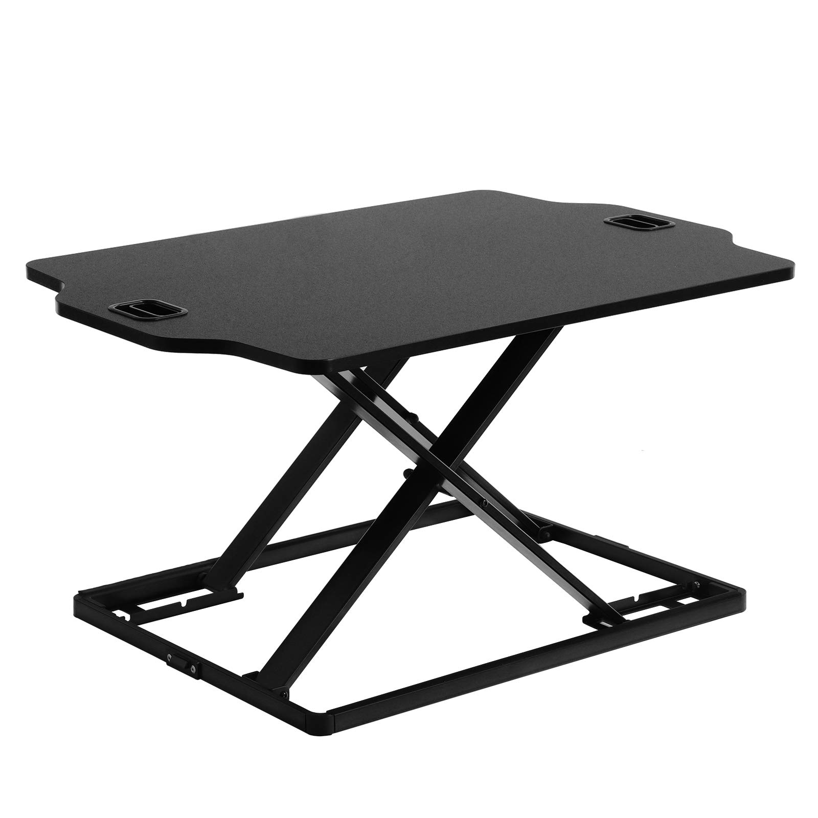 SONGMICS Standing Desk, Height Adjustable Sit to Stand Desk, for Computer, Laptop and Office Supply - Black, ULSD02BK
