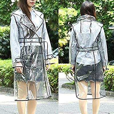 cbd905d56b36 Amazon.com  Women Long Style Waterproof Hooded EVA Raincoat Clothing ...
