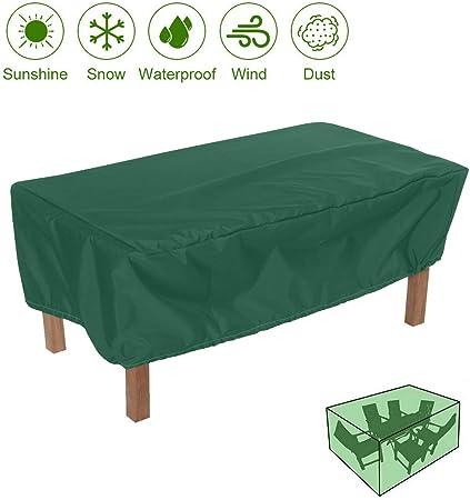 SUNDUXY Funda para Muebles de Jardín, Funda Protectora, 210D Oxford Impermeable Resistente al Polvo Anti-UV Funda Protectora Mesa Exterior,Verde,170x71x94cm: Amazon.es: Hogar