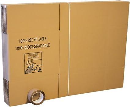 Pack con 10 cajas para mudanza + 66 metros de adhesivo + etiquetas ...