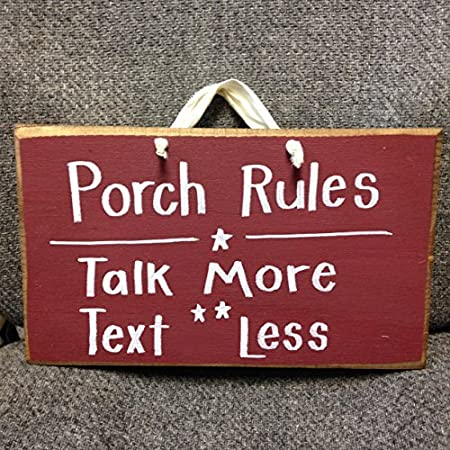 Porch Rules Talk More Text Less Wooden Signs Plaque Decorative Wood Magnificent Decorative Wood Signs With Sayings