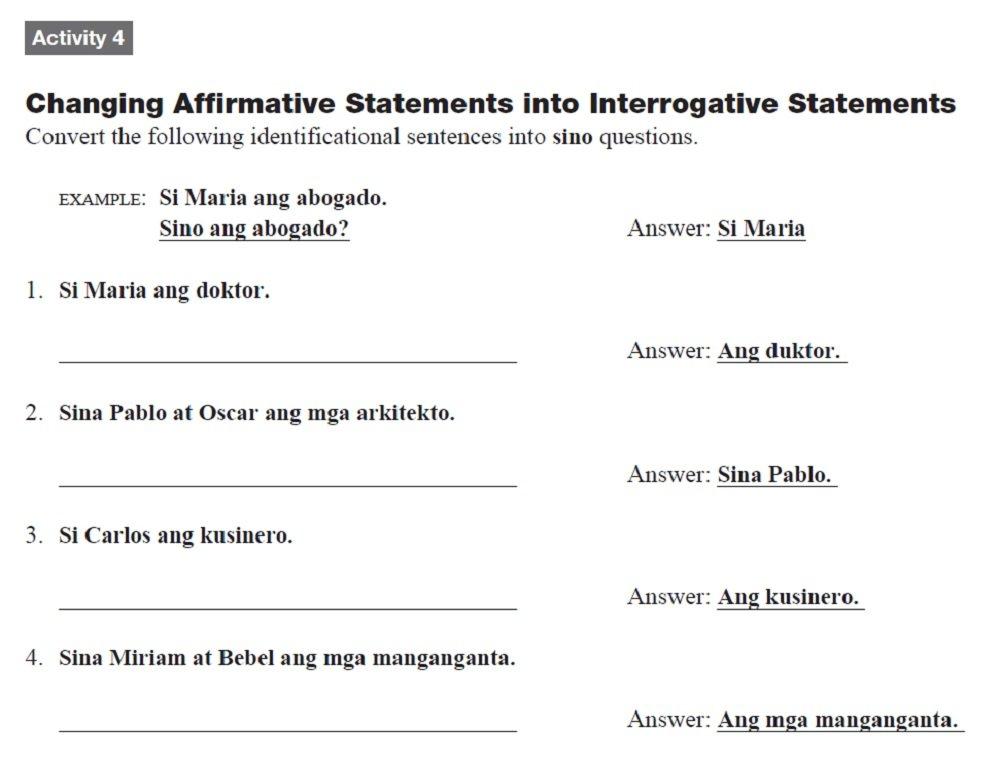 Amazon Elementary Tagalog Workbook Tara Mag Tagalog Tayo