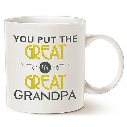 amazon com mauag father s day gifts grandpa coffee mug you put