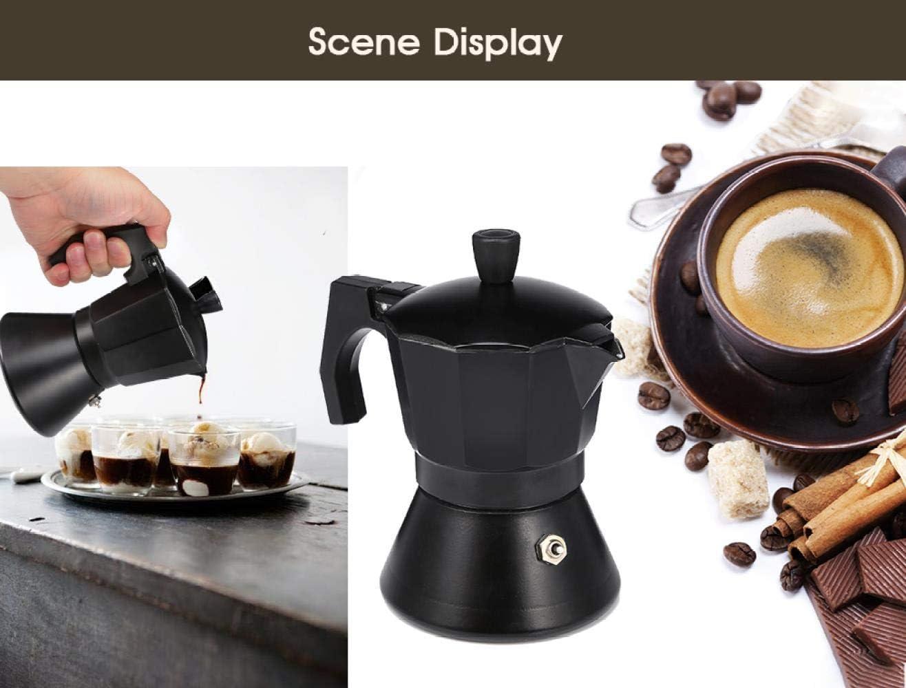 Hokaime Cafetera de Aluminio para café exprés Estufa Cafetera de ...
