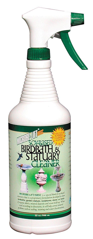 Amazon.com : Microbe Lift 32-Ounce Pond Bird Bath & Statuary Cleaner ...