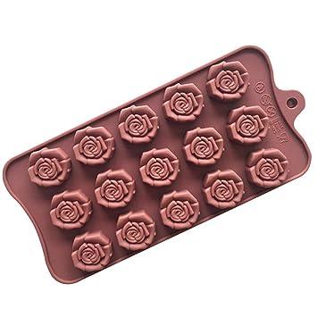 Molde de silicona para repostería de chocolate, gelatina, dulces, 15 agujeros, forma