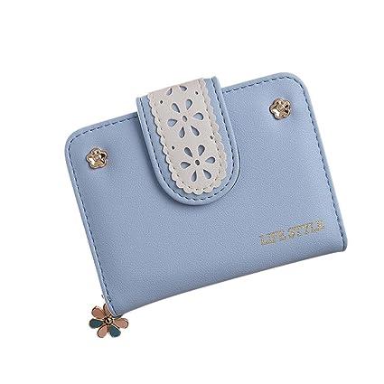 Cartera de pequeña Piel Monedero de Elegante y Moda Azul ...