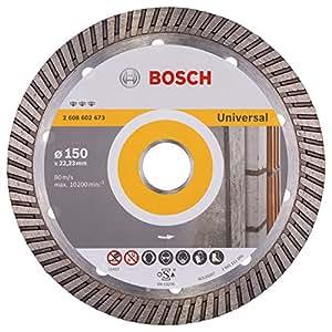 Bosch 2 608 602 673  - Disco de corte de diamante Best for Universal Turbo - 150 x 22,23 x 2,4 x 12 mm (pack de 1)