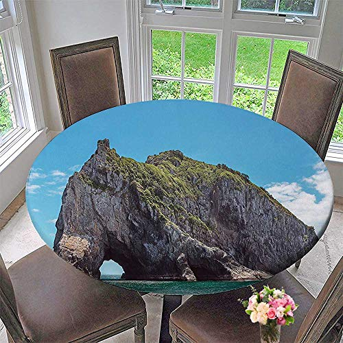 Mikihome Chateau Easy-Care Cloth Tablecloth Famous Elephant Shape Rock with The Grand Hole in Bay of Islands Nz for Home, Party, Wedding 47.5