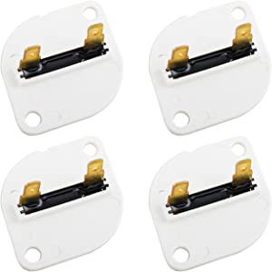Wadoy 3390719 Dryer Thermal Fuse for Whirlpool Kenmore Sears WP3390719 PS11741444 AP6008309 (4 Packs)