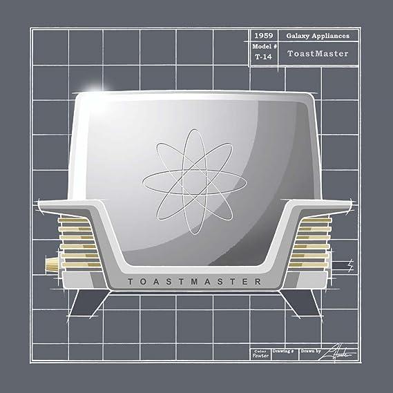 Amazon.com: Galaxy Toaster - Pewter Larry Hunter Art Print, 14 x 14 ...