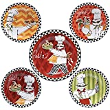 Certified International Corp 89234 Certified International Chefs on the Go Pasta Set, Multicolored, 5 Piece