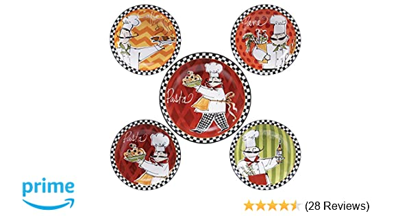 Certified International 89234 Chefs on the Go Pasta Set 5 Piece Multicolored