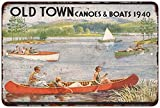 1940 Old Town Canoes & Boats Vintage Look Reproduction Metal Sign 8x12 8122503