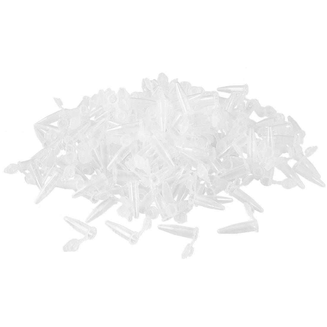 Bingpong 1000 unids 0.2ml/0.5ml/1.5ml tubo de microcentrífuga de laboratorio de plástico transparente con tapa recipiente de muestra de tubo de ensayo de laboratorio (0.5ml)