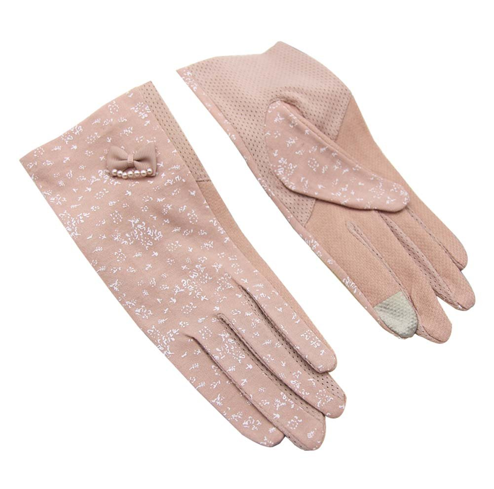 Koala Superstore Lightweight Summer Driving Gloves Women Sunscreen Protection Gloves (PINK A)