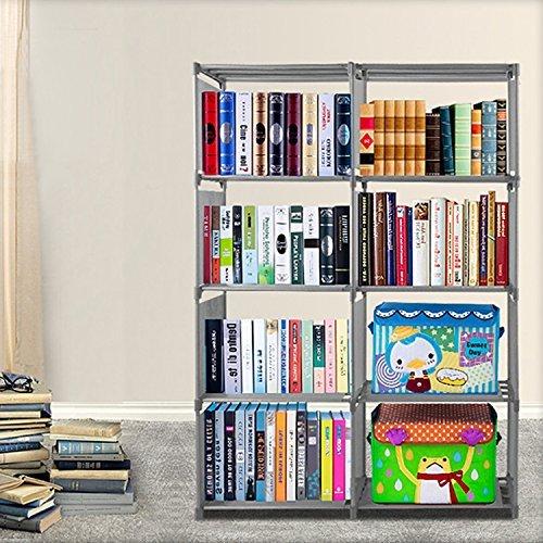 eshion Bookcase 4 Shelf Bookshelf Adjustable Furniture Storage Shelving Book--US STOCK