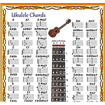 Amazon Ukulele Chords Poster Chart Musical Instruments