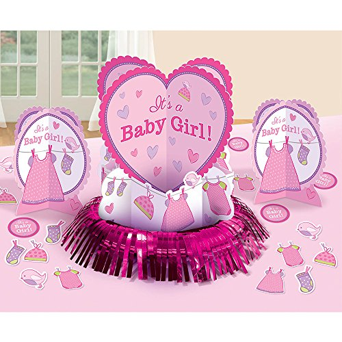 Amscan Delightful Shower with Love Girl Room Decorating Kit Baby Shower Party Decorations (10 Piece), 14