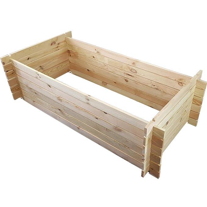 Abfall & Recycling proheim Holzkomposter 95 x 55 x 30 cm Anthrazit Kompostbehälter aus 100% FSC Holz stabiler Gartenkomposter mit Stecksystem 110 Liter Fassungsvermögen