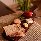 ExclusiveLane Cheese & Bread Board Sliced From Wooden Log - Chopping Cutting Board Slicing Platter
