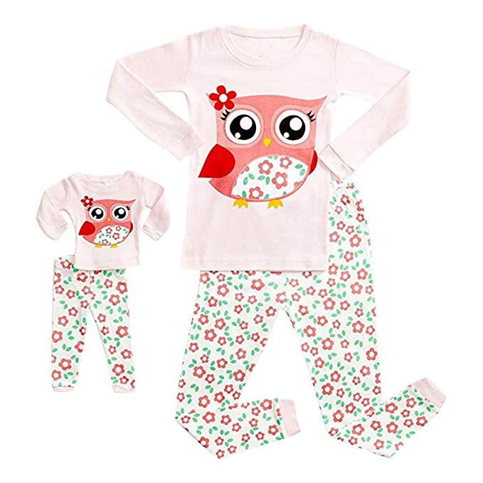 5ea76ae49 Amazon.com  Clothful 💓 Doll   Girls Pajamas Baby Cartoon Tops Pants ...
