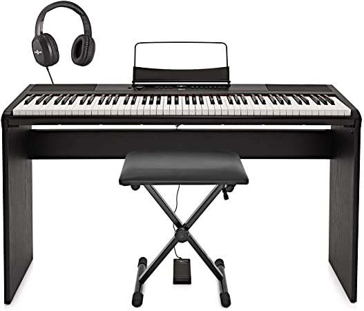 Piano de Escenario SDP-2 de Gear4music + Set Completo
