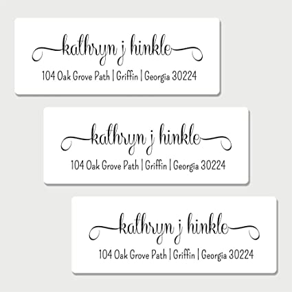 amazon com 60 personalized white fancy print return address labels
