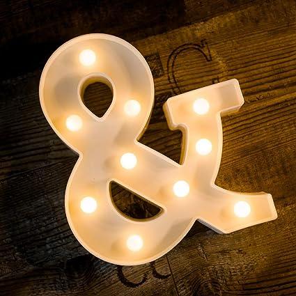 Amazon.com: Letrero de 26 letras con luz LED de la marca ...