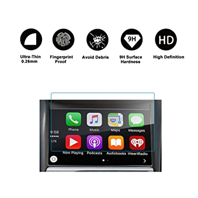 RUIYA 2020 2020 Chevrolet Silverado 1500 2500HD 3500HD 8-Inch Car Navigation Protective Film,Clear Tempered Glass HD and Protect Your Eyes