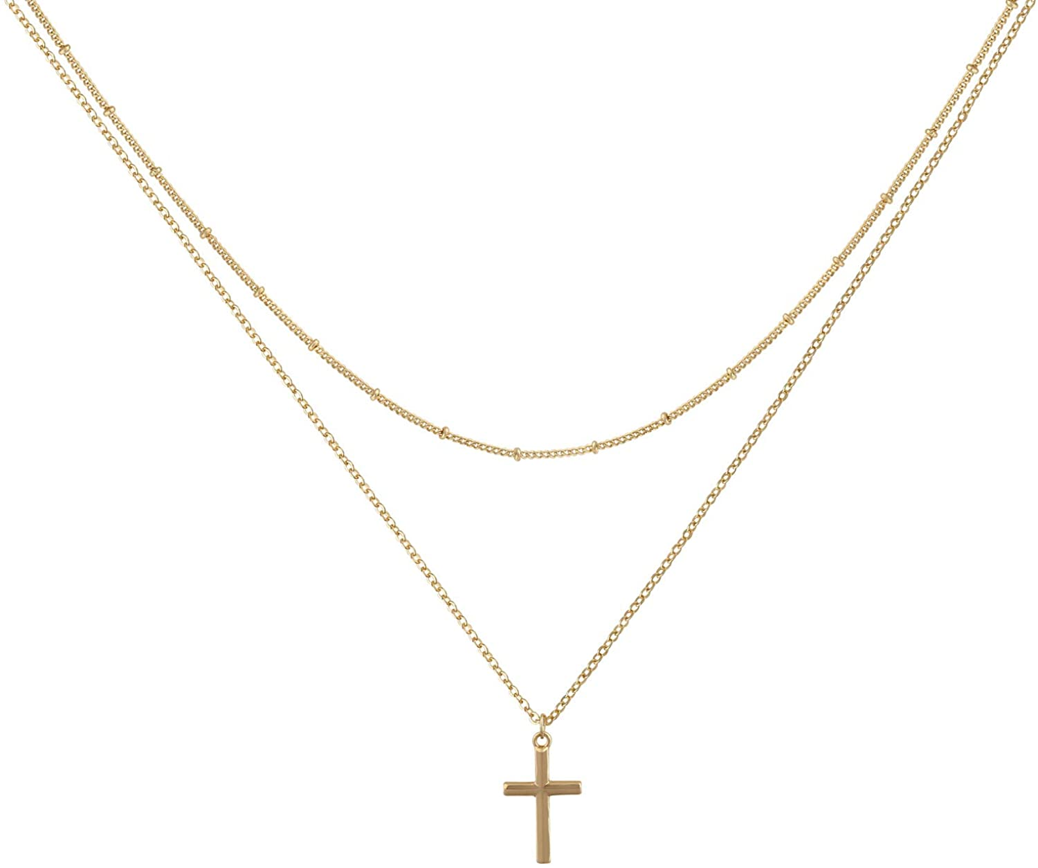 14K Gold Have Faith Necklace by JEWLR