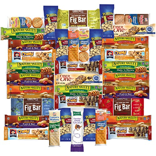 Healthy Office Snacks & Bars Variety Pack Assortment (Care Package 36 Count) (Rice Cakes White Cheddar)