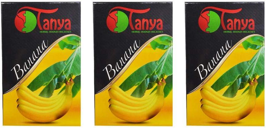 150 gr de hierbas Tanya plátano o banana Melaza natural sin nicotina Shisha de la cachimba pipa Narguile