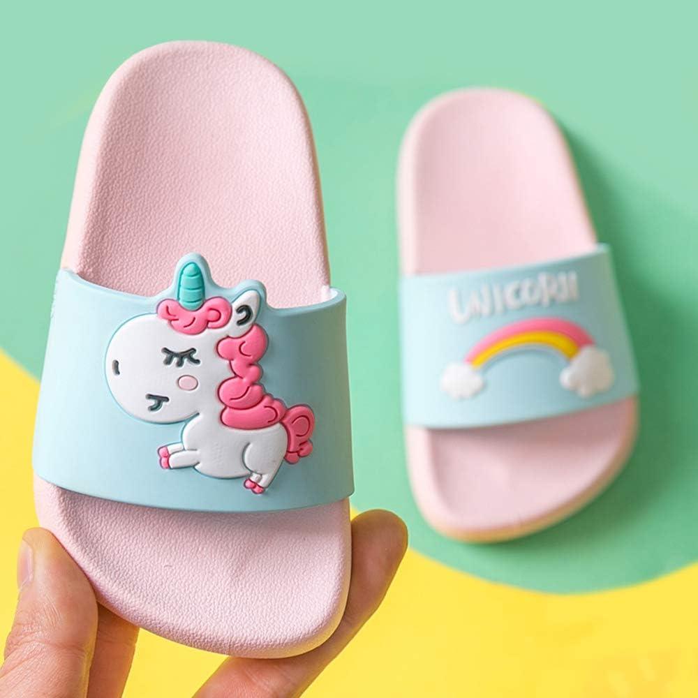 | Toddler Little Kids Unicorn Shower Pool Slide Sandals Non-Slip Summer Slippers Lightweight Beach Pool Water Shoes for Girls and Boys (Toddler/Little Kids) | Sandals