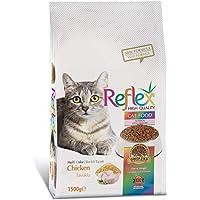Reflex Yetişkin Kediler için Tavuk Etli, Renkli Taneli Kedi Maması 1,5 Kg