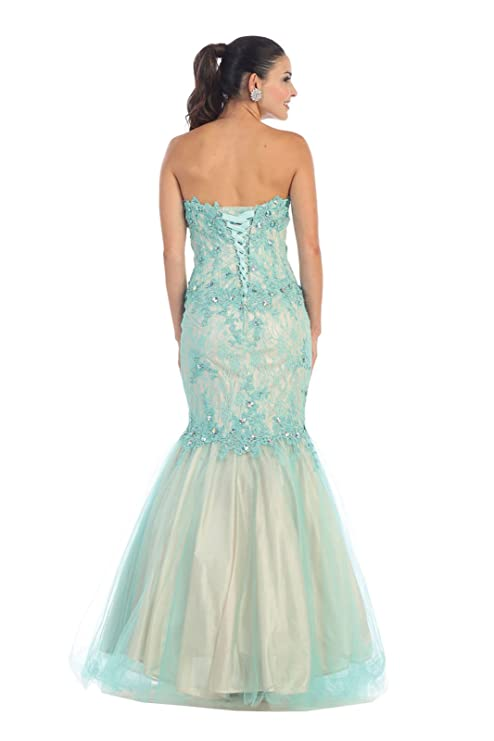 Royal Queen RQ7248 Mermaid Prom Evening Dress - Multicoloured -: Amazon.co.uk: Clothing