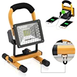 15W 24 LED LED Work Light with Magnetic Stand Vaincre Camping Outdoor Lights Spotlights Portable Rechargeable with Dual USB Port to charge Digital Devices and Emergency SOS Red Lights Mode