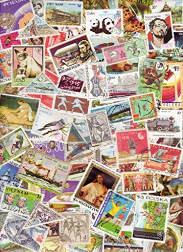 500 Worldwide Stamps for Collectors - All Different.