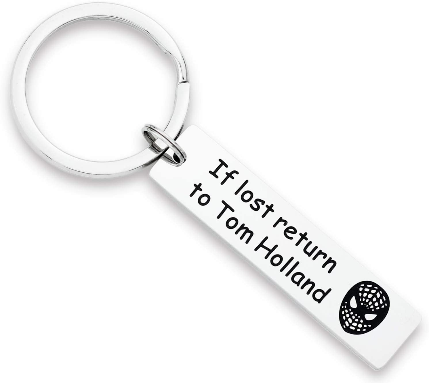 Kivosliviz Spiderman Keychain If Lost Return to Tom Holland Gifts for Girls and Son