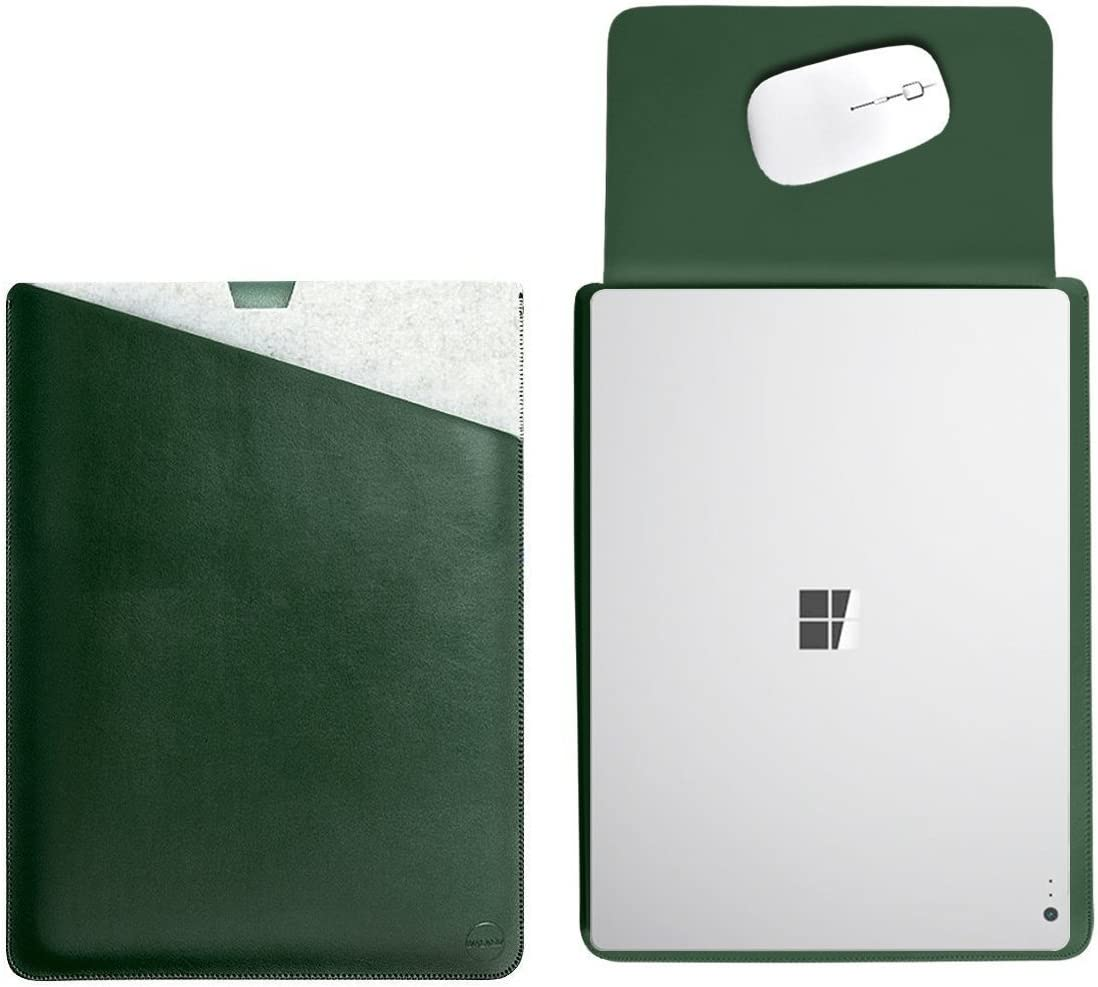 2017 /& 2018 /& 2019 Released WALNEW 13.5 Sleeve for 13.5 Inch Microsoft Surface Laptop 1//2//3 Protective Soft Sleeve Case Cover Bag with Safe Interior and Exterior Mouse Pad Green
