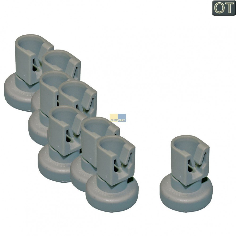 Dishwasher Rack Rollers Pack of 8 50286967000 for Rack Rollers AEG Favorit Electrolux ESF Juno JSI ESI ZANKE GE Zanussi ZDS Küppersbusch IG IGV Privileg