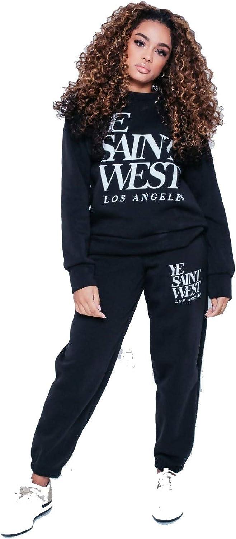 Divadames Womens Saint West Jogger Suit Girls Co-ords Set UK 8-14