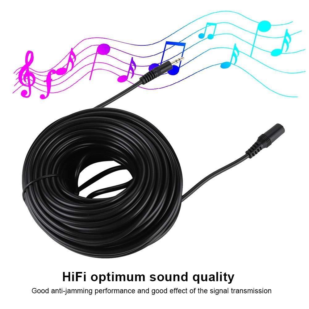 15M Extralanger Stecker auf Buchse Audiokabel f/ür Smartphone-Kopfh/örer Stereo-PC-Audio-Aux-Kabelverl/ängerung 3.5mm Audio Extension Cable Bewinner 3,5 mm Audio-Verl/ängerungskabel