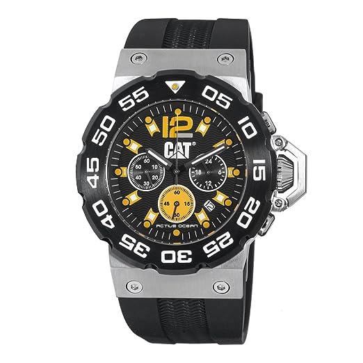 Caterpillar D214321137 - Reloj de pulsera hombre, Caucho, color Plata: Amazon.es: Relojes