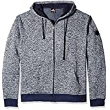 Southpole Men's Big and Tall Hooded Full Zip Fleece Basic, Marled Navy, 5XB